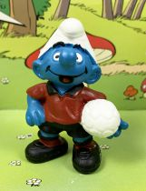 The Smurfs - Schleich - 20461 Soccer Team Leader Smurf   with #10