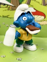 The Smurfs - Schleich - 20463 Smurf with tracing bread