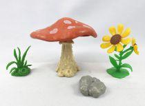 The Smurfs - Schleich - 40060 Mushroom & flowers  Accessories N°4 (loose)