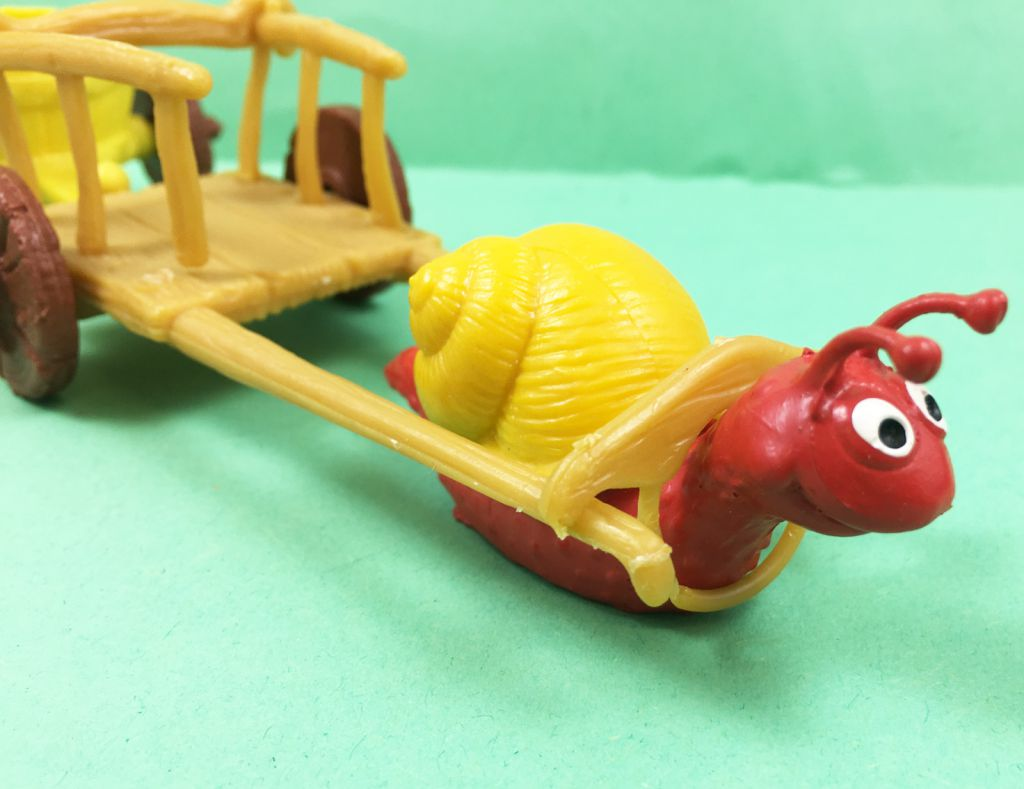 The Smurfs - Schleich - 40100 Snail with wagon Accessories n°8 (loose)