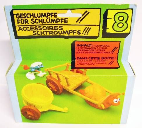 The Smurfs - Schleich - 40100 Snail with wagon Accessories N°8 (Loose in box)