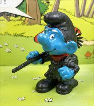 The Smurfs - Schleich - 40202 Smurf chimney sweeper (dark gray trousers)