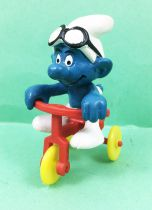 The Smurfs - Schleich - 40203 Smurf on Red Baby Cycle