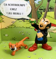 The Smurfs - Schleich - 40211 Gargamel and Azrael (with moustaches) Loose no Box