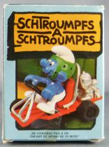 The Smurfs - Schleich - 40218 Smurf as go kart driver (mint in box)