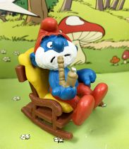 The Smurfs - Schleich - 40228 PaPa Smurf with rocking chair