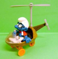 The Smurfs - Schleich - 40233 Smurf driving Helicopter