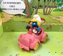 The Smurfs - Schleich - 40241 Smurfette drives a pink car