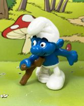 The Smurfs - Schleich - Smurf with crutch (Promotional Figure : Les Paralysés de France)