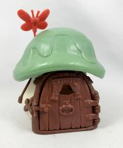 The Smurfs - Schleich Little House (White) with Green Roof (loose)
