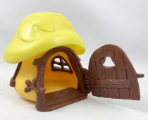The Smurfs - Schleich Little House (Yellow) with Yellow Roof (loose)