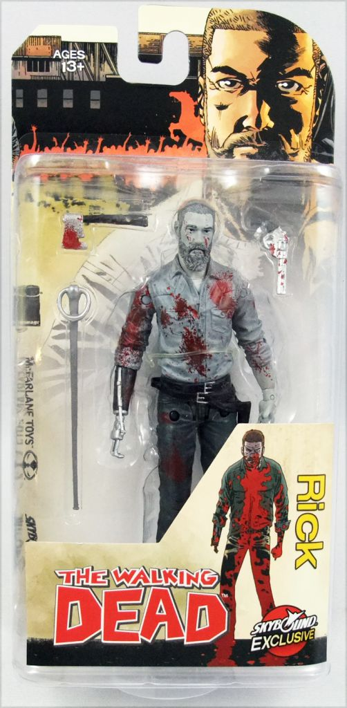 Rick The Walking Dead Skybound Exclusive Action Figure Bloody