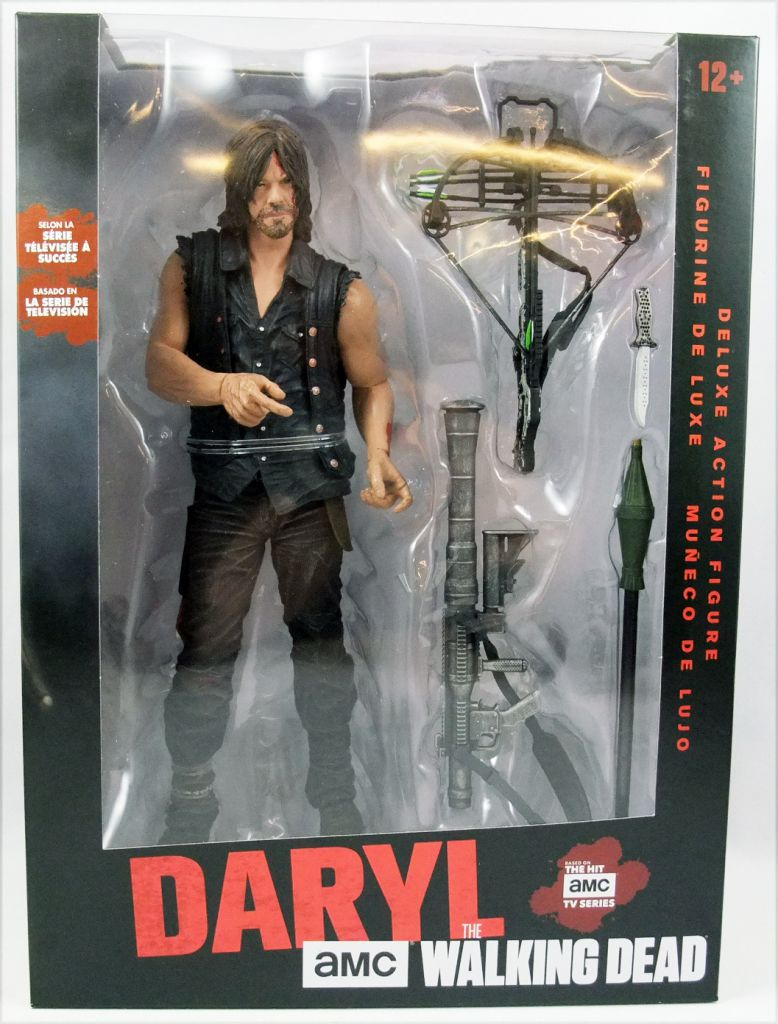 McFarlane The Walking Dead Daryl Dixon Rocket Launcher 10-Inch Deluxe Figure