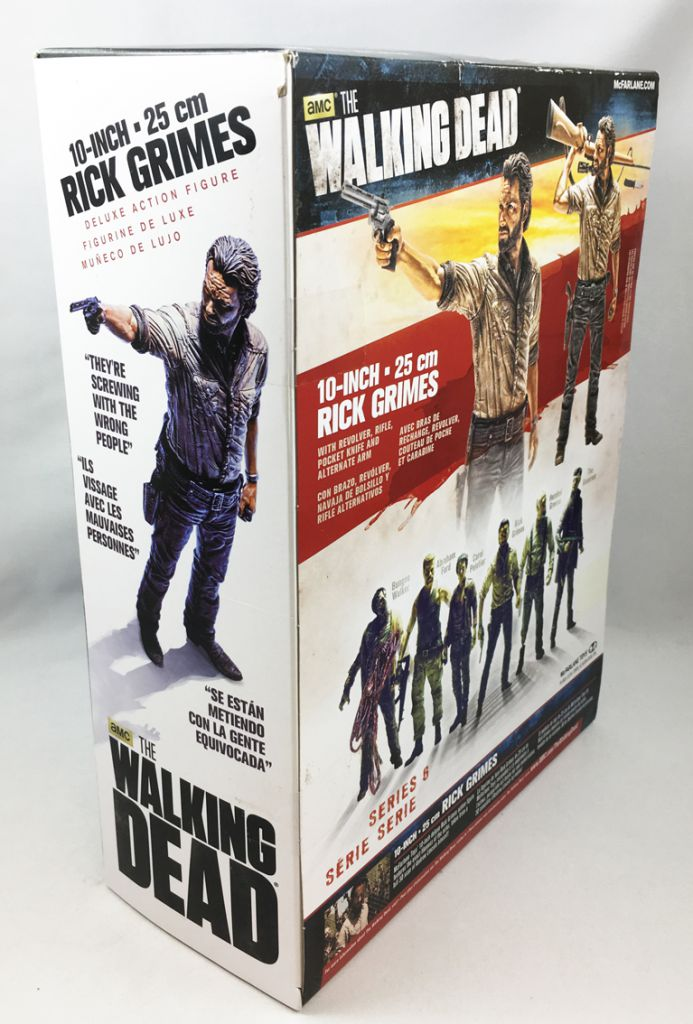 THE WALKING DEAD TV SERIES RICK GRIMES DELUXE BOX MCFARLANE ACTION FIGURE 25 CM