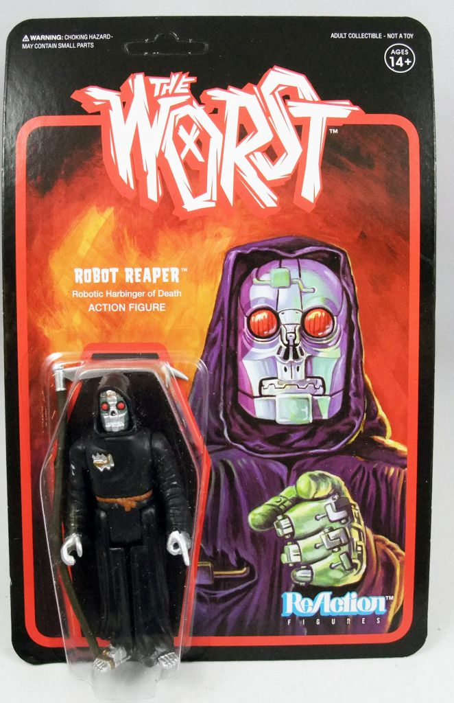 "The Worst - Super7 ReAction Figure - Robot Reaper ""Wide Release Color\"""