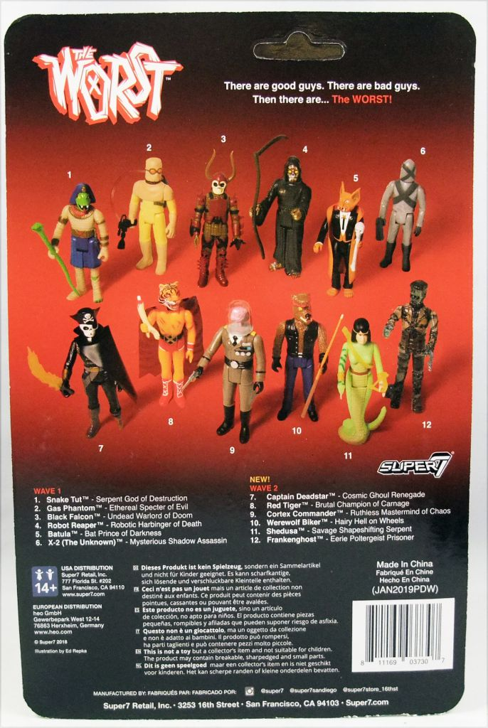 "The Worst - Super7 ReAction Figure - X-2 (The Unknown) ""Wide Release Color\"""