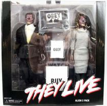 """They Live - NECA - Alien 2-pack 8\"""" clothed retro figures"""