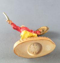 Thibaud ou les croisades - Figurine Jim - Sarrasin piéton rouge et jaune