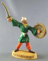 Thibaud ou les croisades - Figurine Jim - Sarrasin piéton vert et orange