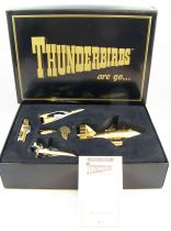 Thunderbirds -  Matchbox Collectibles - Edition Spéciale 5 véhicules plaqués Or (TB1, TB2, TB3, TB4 & FAB1)