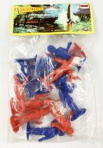 Thunderbirds - Comansi - Sachet de 12 figurines (bleu & rouge)