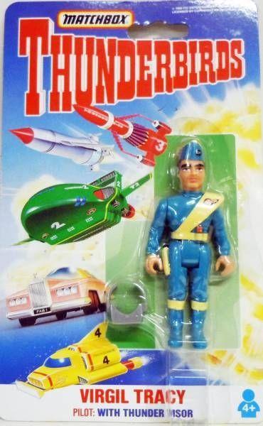 Thunderbirds - Matchbox - Série Complète de 10 figurines Articulées (Neuves sous Blister)