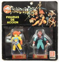 Thundercats - Kidworks (Basa) Miniatures - Lion-O & Tygra / Leon-O & Tigro (mint on card)