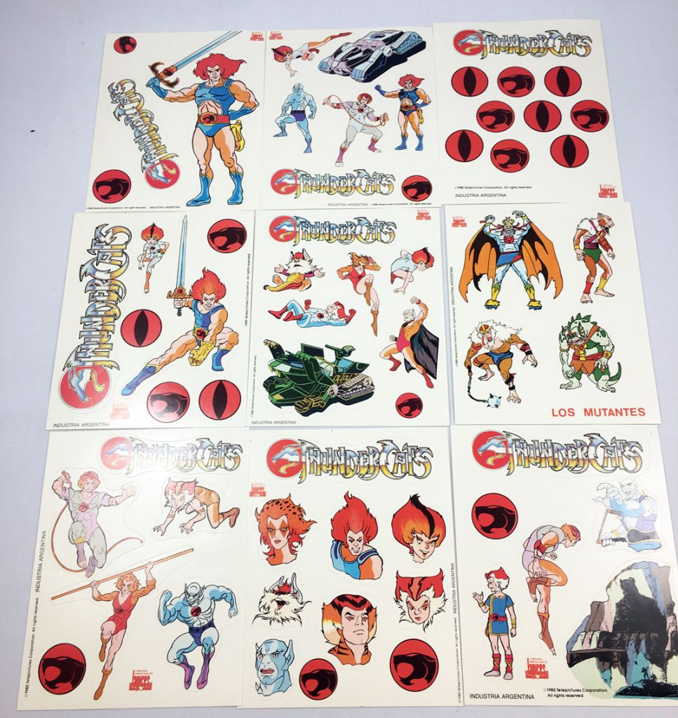 Thundercats lot of 9 stickers set compañia americana de lápices argentina loading zoom