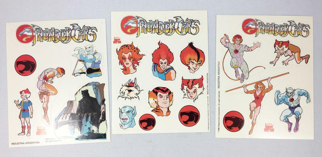 Thundercats (Cosmocats) - 9 Planches d\'autocollants (Compañia Americana de Lápices, Argentina)