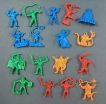 Thundercats (Cosmocats) - Dunkin Bubble Gum - Série de 17 figurines monochromes