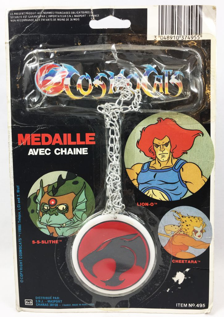 Thundercats (Cosmocats) - Masport - Médaille avec Chaîne (Medal with Chain)