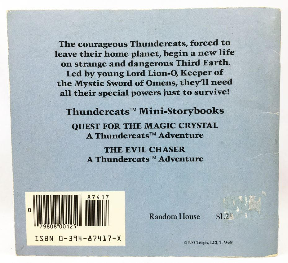 Thundercats (Cosmocats) - Random House Mini-Storybook - Quest for the Magic Crystal / The Evil Chaser