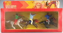 Timpo - Apaches - 3 Mounted Figures Mint in Box (Ref 107)