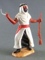Timpo - Arabes - Piéton blanc cimeterre & fusil jambes avançantes (robe recouvrant la jambe) pantalon noir