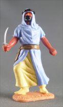 Timpo - Arabes - Piéton bleu ciel couteau jambes avançantes (robe découvrant la jambe) pantalon jaune