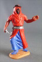 Timpo - Arabes - Piéton rouge (couteau) jambes avançantes (robe découvrant la jambe) pantalon bleu