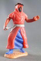 Timpo - Arabes - Piéton rouge couteau jambes avançantes (robe recouvrant la jambe) pantalon bleu