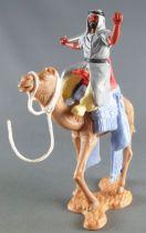 Timpo - Arabes sur chameau - Gris (cimeterre) pantalon jaune ceinture noire chameau marchant brides blanches