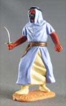 Timpo - Arabs - Footed - Light blue (knife) advancing legs (robe hanging fully down) yellow trousers