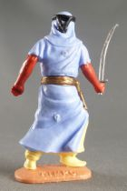 Timpo - Arabs - Footed - Light blue (scimetar) advancing legs (robe folding back) yellow trousers