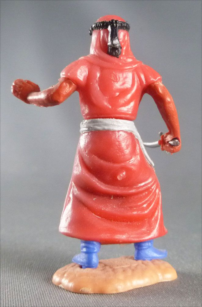 Timpo - Arabs - Footed - Red (knife) advancing legs (robe hanging fully down) blue trousers