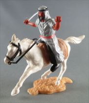 Timpo - Arabs - Mounted - Grey (scimitar) black trousers (red belt) white galloping (short) horse