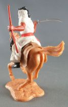 Timpo - Arabs - Mounted - White (scimetar & rifle) black trousers (red belt) Light Brown galloping (short) horse sand base