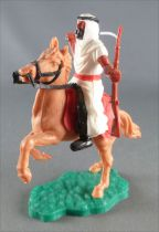 Timpo - Arabs - Mounted - White (scimitar & rifle) black trousers (red belt) tan rearing up horse