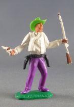 Timpo - Cow Boys - 1ère série - Piéton révolver & fusil