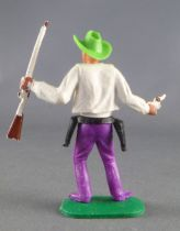 Timpo - Cow Boys - 1st series - Footed pistol & rifle