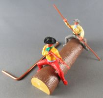 Timpo - Cow Boys - Cowboy on a Log (Ref 1031) 2