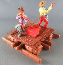Timpo - Cow Boys - Cowboy traders on raft (ref 1016) 1