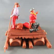 Timpo - Cow Boys - Cowboy traders on raft (ref 1016) 2