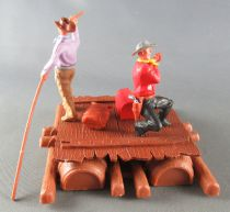 Timpo - Cow Boys - Cowboy traders on raft (ref 1016) 3